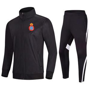 RCD Espanyol Fútbol desgaste uniforme de la chaqueta de deportes del fútbol de secado rápido Entrenar baloncesto que se ejecuta caliente trajes