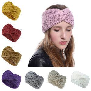 Femmes Designer Bandeau Cross Cross Headwrap hiver Bandeau de poil Crochet Turban Turban Head Bandeau de mode Accessoires de cheveux 9 couleurs
