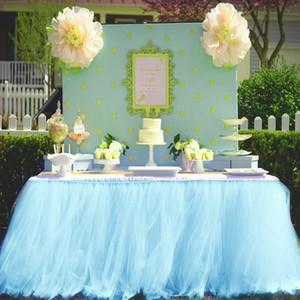 MultiColor Jupe de table Art de la table en tissu mariage Tutu Tulle Table Jupe bébé Party Douche Home Decor Plinthe Birthday Party