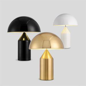 Moderno, Metallo, funghi Desk Lamp, Italia Replica Designer Lampada da tavolo per la camera da letto Ferro Lampade da tavolo LED Tablelamp decorativo