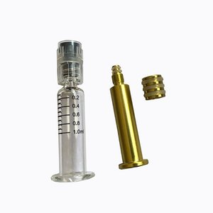Golden Silver Plunger Luer Lock & Luer Head Fuel Injector Glass Tank Injector Pump for Oil Cartridges Disposable Syringe Box