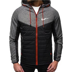 2020 Новые Осенние Мужские Куртки Мода Hood Party Took S Напечатанный Повседневная Пальто с капюшоном Зип Кардиган Плюс Флис S-2XL