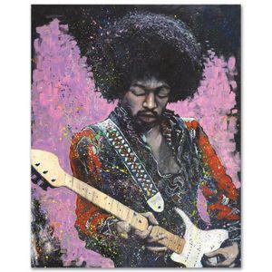 "Stephen Fishwick ""Jimi"" Home Decor Artesanato / HD impressão pintura a óleo sobre tela Wall Art Canvas Pictures 200924"