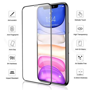 9H hardness Tempered Glass Full Coverage Anti Scratch Screen Protector for iPhone 6 6S 7 8 Plus iPhone X XS MAX XR iPhone 11 Pro max