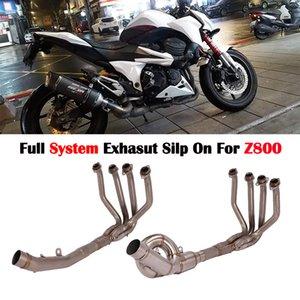Plein d'échappement Slip système ESCAPE Pour Z800 Motorcycle Modifié complet Moyen lien pipe