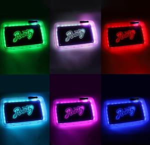 LED Bandeja Do Rolling recarregável de incandescência iluminado plástico Tobacco placa eletrônica fumaça de cigarro caso da bandeja de papel Acessórios fumar GGA3692-1