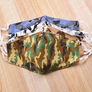 Camouflage stampati adulti Maschere antipolvere Haze a due piani Maschere cotone lavabile traspirante estate Donne Uomo Outdoor Ciclismo D520 0SGF #