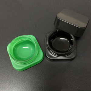 Factory Supply Premium Square Bottle Glass Concentrate Jar with Child Resistant Lid Thick Oil Dab Container Eye Shadow Jars