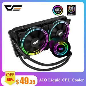 darkflash PC Case воды жидкостного охлаждения AIO Cooler Радиатор водяной охладитель CPU RGB Синхр PWM 240мм вентилятора АМ4 / AM3 + LGA 115x / 2011