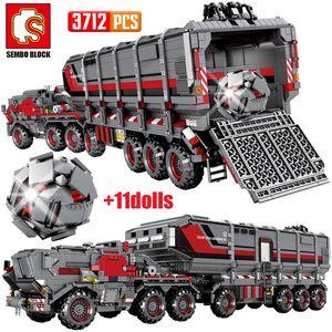 Bricks Edifício Meninos portador Militar Technic Cidade Transporte Terra ly_bags Truck Brinquedos Furgão Tank Car Blocos Sembo Wandering yxlQEq