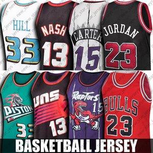 NCAA ولاية كارولينا الشمالية 23 مايكل جيرسي فينس كارتر 15 الفانيلة ستيف ناش 13 جيرسي غرانت هيل 33 الفانيلة UCLA كلية كرة السلة جيرسي