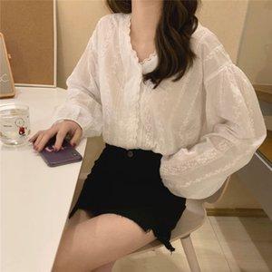 Beauty Women tshirts Fashion Ladies long sleeve t shirt Students streetwear girl tees White Loose T Shirt Girls fz8132