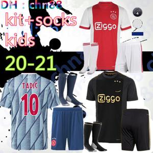 qualité Thai 2020 2021 enfants Ajax FC kits + chaussettes maillot de football 20 21 KLAASSEN FISCHEA BAZOER uniformes MILIK chemise bébé Ajax FC maillot de football