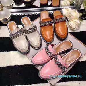 Роскошные кожаные Мокасины Дизайнер Женская обувь Женская мода Мокасины женские вскользь мулов Квартиры 35-40 с коробкой Y15