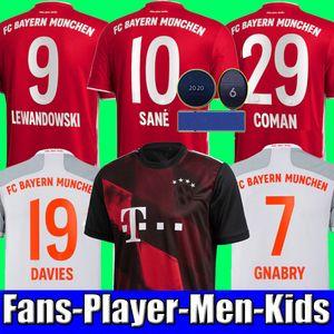 top thailand SANE LEWANDOWSKI Sané COUTINHO 20 21 2021 Bayern Munich Gnabry COMAN DAVIES Camiseta de fútbol 2020 camiseta Camiseta de fútbol MUNCHEN Men + Kids sets
