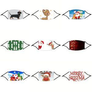 Bambini antipolvere Viso Natale Maschera bocca Er PM2.5 anti-polvere Natale mascherina mascherine antipolvere Anti-L lavabile spugna di protezione di Natale HH # 624