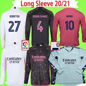 Manga larga 2020 2021 fútbol camisetas del Real Madrid, tercero PELIGRO JOVIC Militão camiseta de fútbol 20 21 camiseta de fútbol portero hogar lejos azul