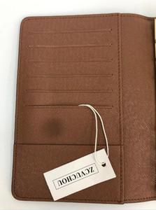 Designer-New Mode Hommes Classique Casual Carte de crédit ID Porte-Qualité Notebook Ultra Slim Wallet paquet pour Mans / Womans