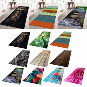 미끄럼 방지 복도 러너 러그 3D 사진 인쇄 침대 옆 바닥 카펫 문 매트 nSr1 번호