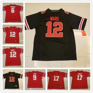 Ohio State Buckeyes Colegio 6 Sam Hubbard 9 Johnny Utah 12 Denzel Ward, 17 Jerome Baker, Blanco Rojo Negro para mujer para hombre de los niños Camisetas de Fútbol