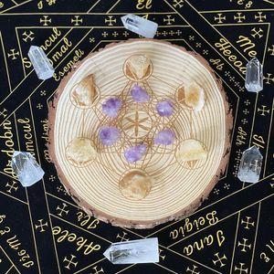 Izgara Tarot Kristal Cadı Kurulu Enerji Astrolabe Kehanet Dekorasyon Kart Izgara Deck Metatrones Altar Games yavru Kristal qyliWr mywjqq