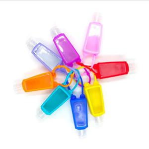 Mano de silicona cubierta protectora Desinfectante 30ml viaja portable recargable botella de desinfectante Covers desinfectante Carrier limpieza OOA8330