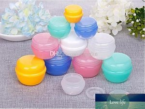 Mushroom Shape 10ML G Plastic Jars with Lids and Inner Liners | Empty Lotion Containers Travel Cream Containers - for Sugar Scrub, Cosmetic
