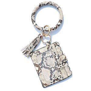 12styles Bracelet bourse Trousseau femmes Glands Bracelets PU gainé de cuir Porte-clés Bangle Porte-Monnaie Carte bracelets Porte-Sac GGA3634-5