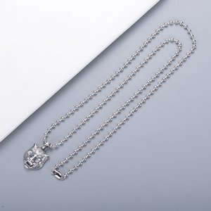 Silver Plated Necklace Top Quality Fashion Necklace Domineering Personality Tiger Head Necklace Hot Sale Jewelry Supply Wholesale