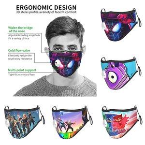 새로운 디자인 mascarilla 슈퍼 영웅 재사용 안면 마스크 fortnite면 PJ-마스크 2 개 필터와 밸브 호흡과 패션 커버를 roblox