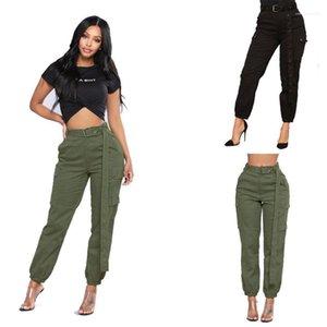 Женщины Одежда Мода Повседневная Apprel Женская мода Дизайнерские шаровары Solid Color Карман Hip Hop Style