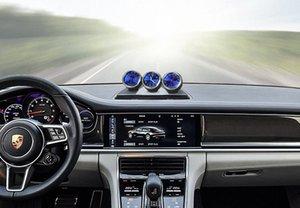 Car Ornament Automobile Orologio automatico Interni Guarda il termometro igrometro decorazioni Dashboard Decor Accessori Regali pmLN #