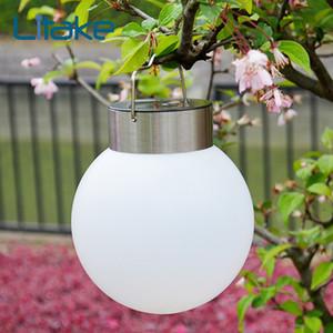Litake lampada della sfera solare esterna impermeabile solare ha condotto la luce della lampada di campeggio portatile per il giardino esterno decorazione dell'albero