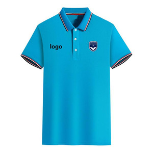 FC Girondins de Bordeaux Summer Men's Slim Fit Golf Polo T-Shirt Short Sleeve Polo Casual T shirt Sportswear