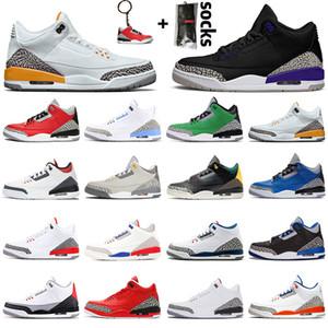 Hava Stock 3s X Mens ayakkabı Basketbol Ayakkabıları 3 Serin Grey Katrina Varsity Kraliyet Unite Ateş Kırmızı Knicks Retro Spor Sneakers 36-47 Rakipler