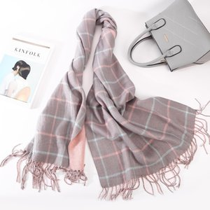 High Quality Fashion Plaid Scarf Women Tassels Scarf Double Side Thick Warm Winter Scarves Long Size Female Cashmere Scarves T200818