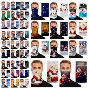 Chirstmas Magia Lenço Outdoor Sports Headband Lenços Dustpoof Magia Cycing Scarf Headwrap máscara protetora festa de Natal Máscaras RRA3482
