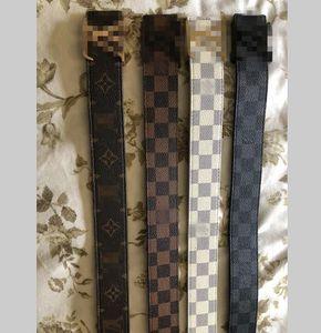 Mensentwerfer Gürtel Leder Louis Vuitton echte schwarze Farbe Designer Rindsleder Gürtel für Männer Luxus Gürtel frei Versandbox der Frauen
