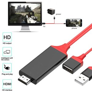 Universal-HDMI-Kabel Plug & Play-HDMI HDTV-TV-Adapter 1M 3FT Digital-AV-Kabel 1080P Telefon TV USB 2.0 Typ C Micro