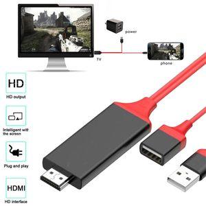 Televizyon USB 2.0 TO C Tipi Micro Universal HDMI Kablo Tak ve HDMI HDTV televizyon Adaptör 1M 3 ft Dijital AV Kablo 1080P Telefon