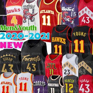 Pascal 43 Siakam Jerseys Fred 23 VanVleet Kyle 7 Lowry Trae 11 Young Hawk Deandre 12 Hunter Carter McGrady Marcus 21 Camby