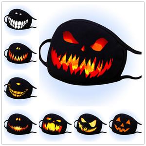 Хэллоуин маска пыле Хлопок Маски Дизайнер моющийся многоразовый Фестиваль Cosplay Маска для лица персонализированных печати Cosplay маска 100шт