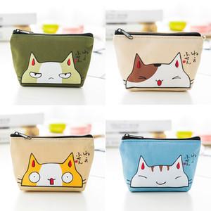 Coréen mignon de chat de bande dessinée Porte-monnaie Conception créative Mini sac Monnaie Sac de stockage de clés de mode promotionnel Gfit
