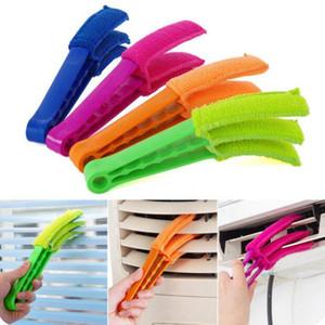 Multi-fonctions Brosse de nettoyage en microfibre aveugle Brosse obturateur de fenêtre Climatiseur Vent poussière Cleaner saleté Nettoyage Brosse amovible DHF724
