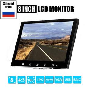 4: 3 8 polegadas TFT LCD Color Video Monitor CCTV Monitor Monitor VGA BNC entrada AV para PC CCTV Security and Stand Screen