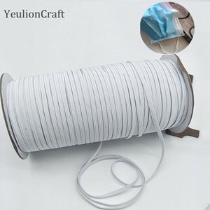 YeulionCraft 3x0.5mm Elastic Mask Band Rope Mask Rubber Band Tape Ear Hanging Rope Round Elastic DIY Crafts