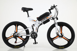 26 inch 21 speed electric bicycle high carbon steel frame 36v350w 8A high carbon steel electric folding mountain bike