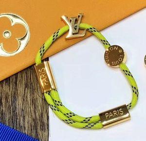 Handgemachte Nylonseil mit Gold oder schwarz blau Spange Armband Charm Titanium Edelstahl Farben Seil Schmucksachen freien Verschiffen PS6293A