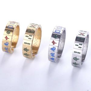 Маджонг вращающееся кольцо подходит для пар 316L титана стали творческое кольцо ювелирных изделий