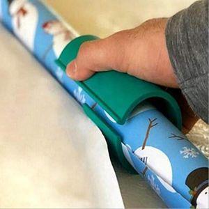 التفاف ورقة القاطع عيد الميلاد هدية التفاف ورقة لفة قطع دائم ورقة من البلاستيك مقص عطلة أداة كتر أخضر أسود LSK1395